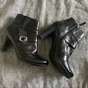 Franco Sarto black heeled ankle boots size 11